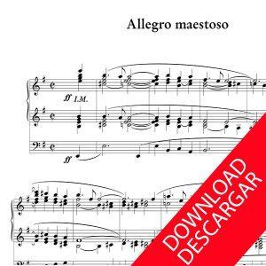 Allegro maestoso - Luis Urteaga - Partitura para Órgano