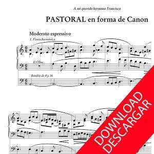 Pastoral en forma de canon - Luis Urteaga - Partitura para Órgano