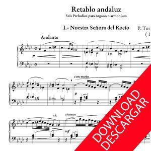 Retablo andaluz - P. Tomás de Elduayen - Partitura para Órgano