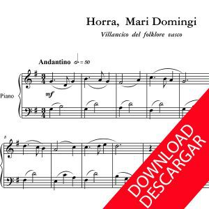 Horra Mari Domingi - Partitura para Piano - Arreglo de Yuri Pronin