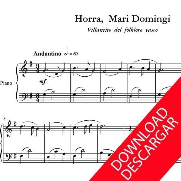 Horra Mari Domingi - Partitura para Piano - Arreglo de Yuri Pronin