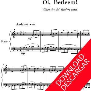 Oi Betlehem - Partitura para Piano - Arreglo de Yuri Pronin