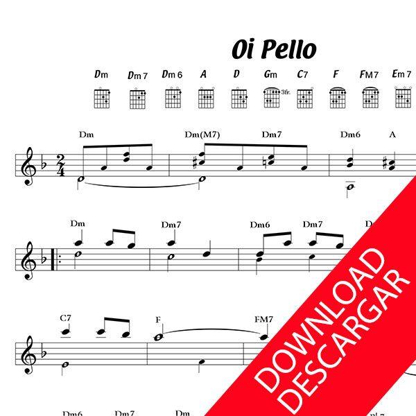 Oi Pello Pello - Partitura para Guitarra