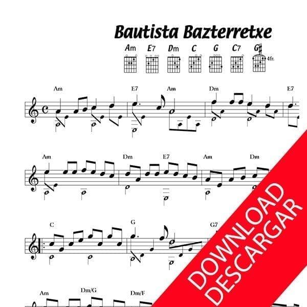 Bautista Bazterretxe Partitura