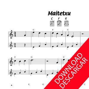 Maitetxu - Partitura para GUITARRA