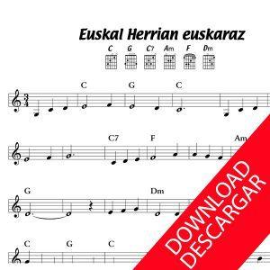 Euskalherrian euskaraz - Partitura Guitarra