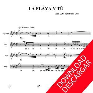La Playa y tú - José Luis Fernández Coll - Partitura para Coro