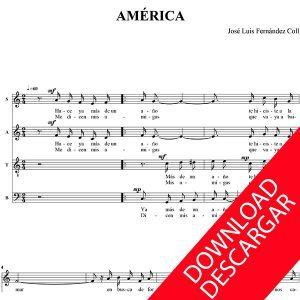 América - José Luis Fernández Coll - Partitura para Coro
