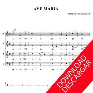 Ave Maria - José Luis Fernández Coll - Partitura para Coro Mixto