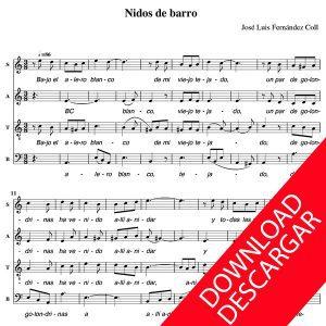 Nidos de Barro - José Luis Fernández Coll - Partitura para Coro Mixto