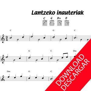 Lantzeko Inauteriak - Partitura para Guitarra