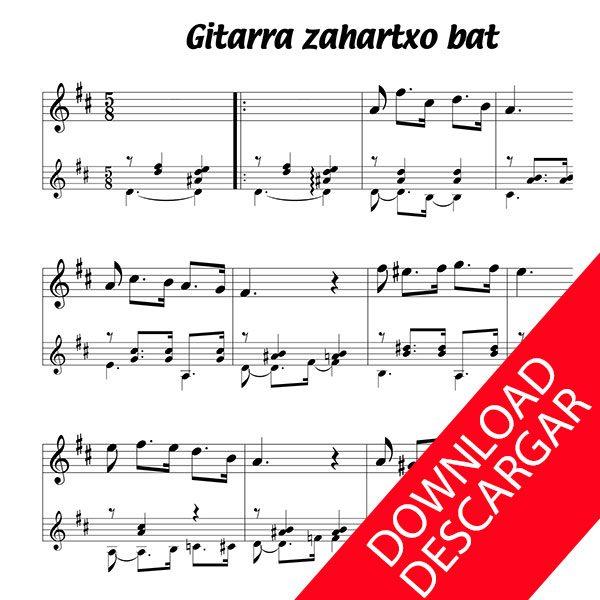 Gitarra zahartxo bat - Kantari euskalduna - Partitura para Guitarra