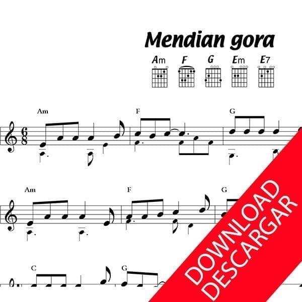 Mendian gora - Imanol - Partitura para guitarra