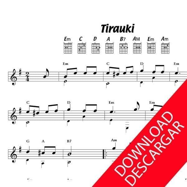Tirauki - Partitura para Guitarra