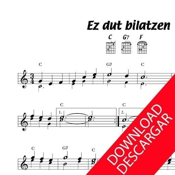 Ez dut bilatzen - Partitura para Guitarra
