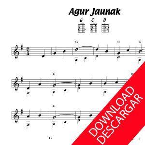 Agur Jaunak - Partitura para Guitarra