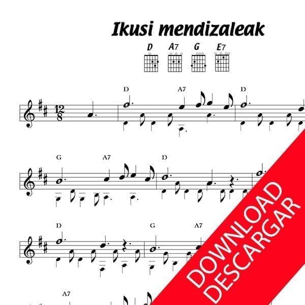 Ikusi mendizaleak - Sabin Lopez de Guereño - Partitura para Guitarra