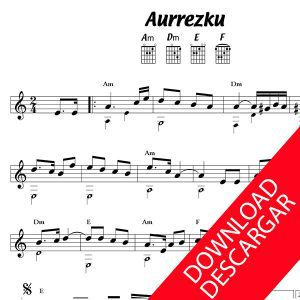 AURRESKU - Partitura para Guitarra