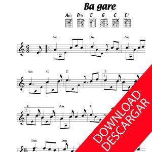 Bagare - Partitura para Guitarra