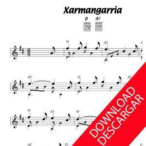 Xarmangarria - Partitura para Guitarra - Letra - Grabación