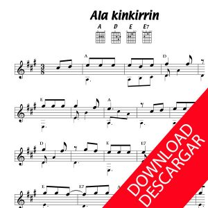 Ala kinkirrin - Partitura para Guitarra