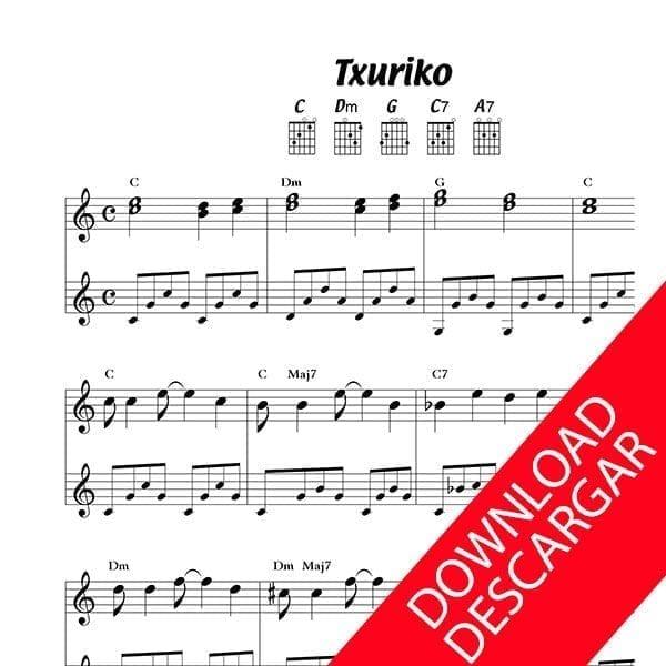 Txuriko - Txomin Artola - Partitura para Guitarra