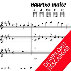 Haurtxo polita - Partitura para Guitarra