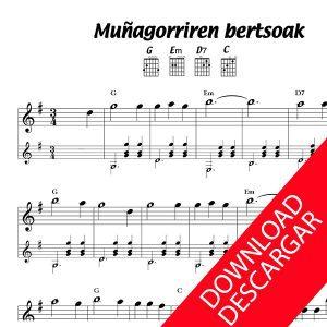 Muñagorriren bertsoak - Partitura para Guitarra
