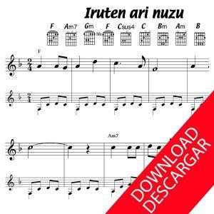 Iruten ari nuzu - Partitura para Guitarra