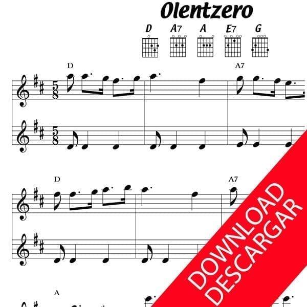 Olentzero - Partitura para Guitarra
