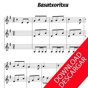 Basotxoritxu - Partitura para Guitarra