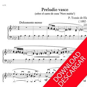 Preludio Vasco - Tomás de Elduayen - Partitura para Órgano