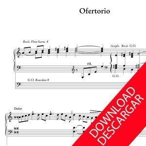 Ofertorio - José de Olaizola - Partitura para Órgano