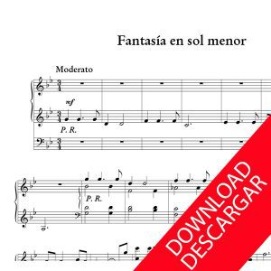 Fantasía en sol menor - Jesús Guridi - Partitura para Órgano