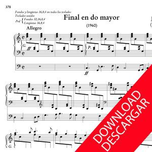 Final en Do mayor - Jesús Guridi - Partitura para Órgano