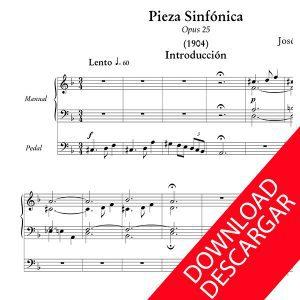 Pieza Sinfónica - José María Usandizaga - Partitura para Órgano