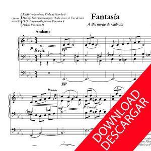 Fantasía - José María Usandizaga - Partitura para Órgano