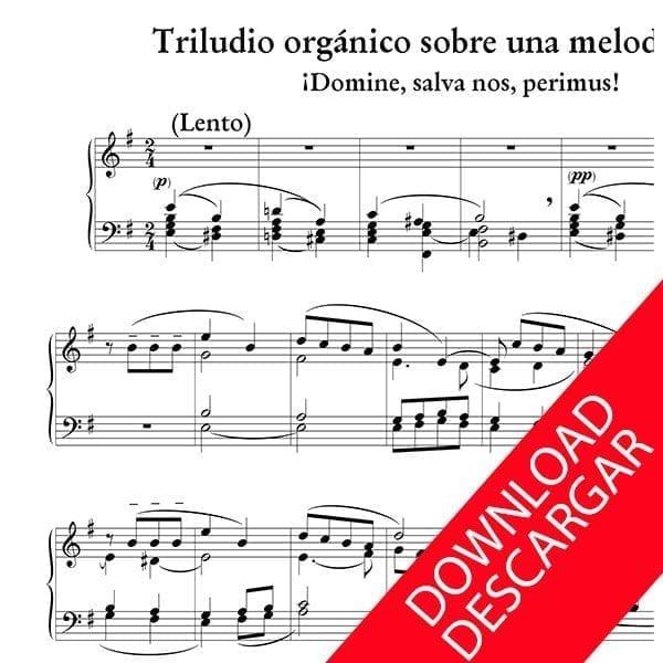Triludio orgánico sobre una melodía vasca - Luis Iruarrizaga - Partitura para Órgano