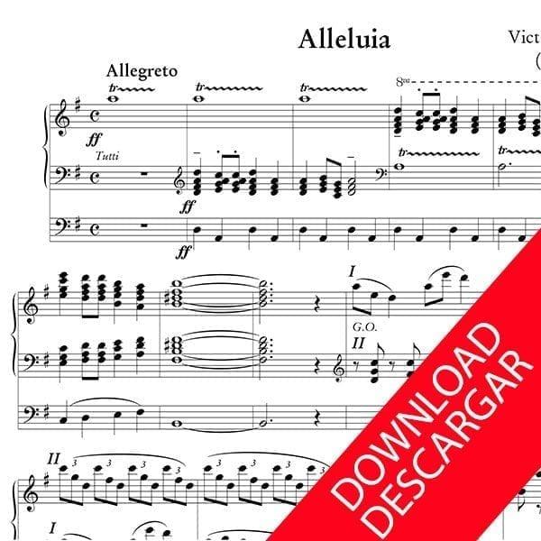 Alleluia - Victor de Zubizarreta - Partitura para Órgano