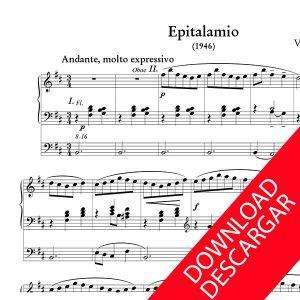 Epitalamio - Victor Zubizarreta - Partitura para Órgano