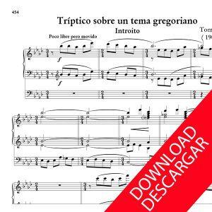 Tríptico sobre un tema gregoriano - Tomás Garbizu - Partitura para Órgano
