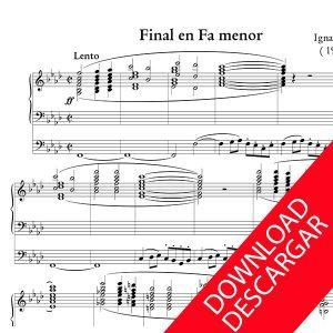Final en Fa menor - Ignacio Mocoroa - Partitura para Órgano