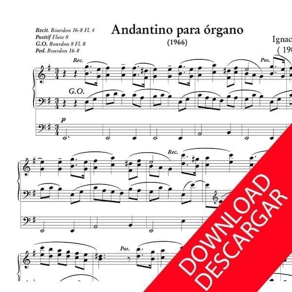 Andantino para Órgano - Ignacio Mocoroa - Partitura para Órgano