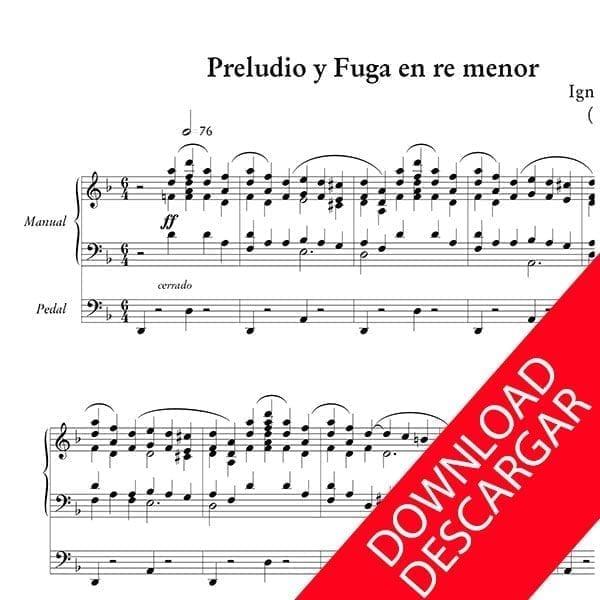 Preludio y Fuga en re menor - Ignacio Mocoroa - Partitura para Órgano