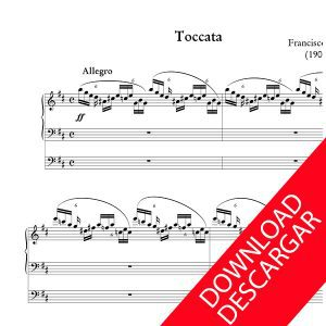 Toccata - Aita Madina - Partitura para Órgano