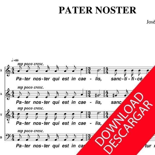 Pater Noster - José Luis Fernández Coll - Partitura para Coro Mixto