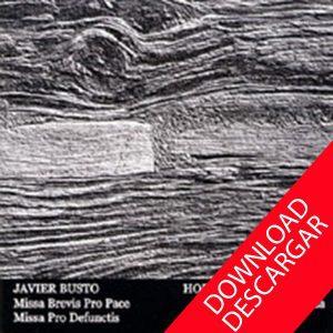 JAVIER BUSTO - MISAS - Grabación en descarga mp3 - Coro Hodeiertz