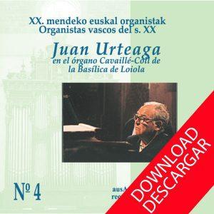 DaAr057 - JUAN URTEAGA - Oorganistas Vascos del S. XX