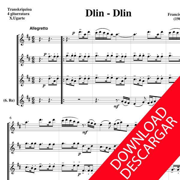 Dlin-dlin - Aita Madina - PARTITURA para 4 GUITARRAS en descarga PDF
