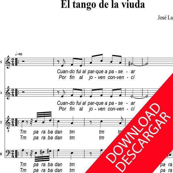 El tango de la viuda - José Luis Fernández Coll - Partitura